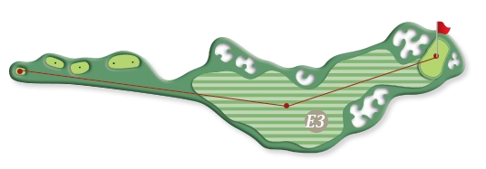 Hill course hole e3
