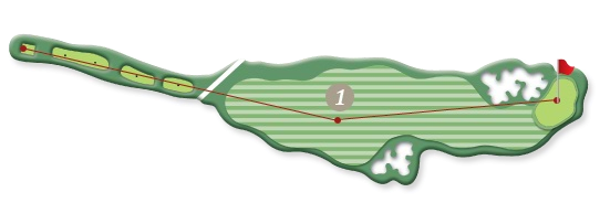 RIVER COURSE hole 1