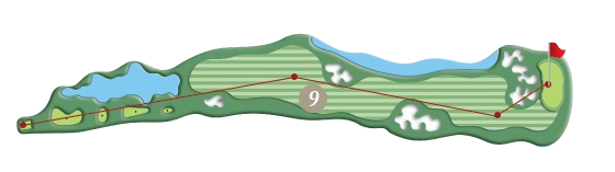 RIVER COURSE hole 9