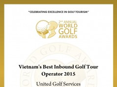 UniGolf Vietnam's Best Inbound Golf Tour Operator 2015 Award